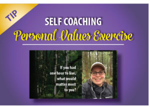 Self coaching personal values exercise Nala women entrepreneurs self employed